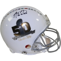 "Aaron Rodgers Signed LE ""Super Bowl On The 50"" Full-Size Proline Helmet Inscribed ""SB 45 MVP"" (Steiner COA)"