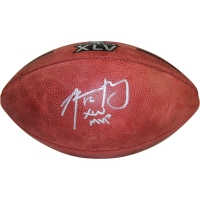 "Aaron Rodgers Signed Super Bowl XLV Football Inscribed ""XLV MVP"" (Fanatics)"