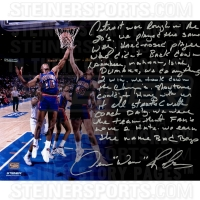 "Dennis Rodman Signed Pistons ""The Bad Boys"" 16x20 Photo With Extensive Inscription (Steiner COA)"