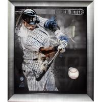 Derek Jeter Signed Baseball Breakthrough Collage (Steiner COA & MLB Hologram)