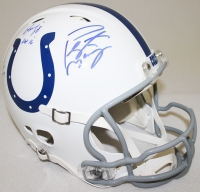 Peyton Manning & Marvin Harrison Signed Colts Full-Size Authentic Pro-Line Helmet With (4) Inscriptions Limited Edition #1/18 (Steiner COA & Fanatics Hologram) at PristineAuction.com