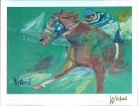 "Secretariat 8"" x 11"" Signed Winford Lithograph (Winford COA)"