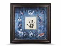 Wayne Gretzky Signed LE Oilers 36x36 Custom Framed Tegata Handprint Display (UDA COA) at PristineAuction.com