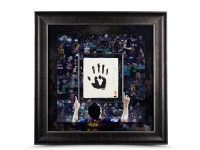 Lionel Messi Signed LE Barcelona 36x36 Custom Framed Tegata Handprint Display (UDA COA)