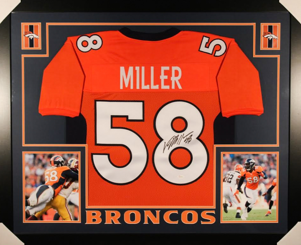 official photos acdca 96fd0 von miller autographed jersey