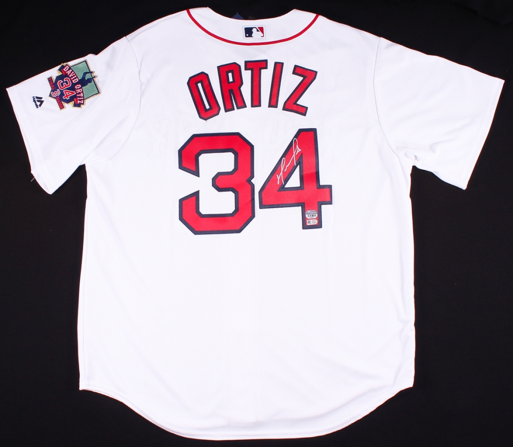 David Ortiz Signed Red Sox Jersey With Final Season Patch (MLB   Fanatics  Hologram) 431d9eb7564