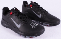 "Tiger Woods Signed New Pair of Black Nike ""TW"" Golf Shoes (UDA COA)"