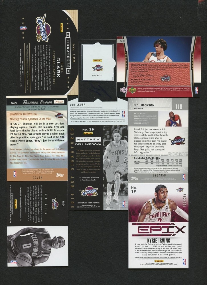 edc4a70e4da Lot of (8) Basketball Cards with 2013-14 Prestige Bonus Shots Autographs