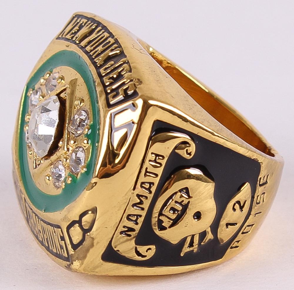 e081d477 Joe Namath 1969 New York Jets Super Bowl World Championship Replica Ring at  PristineAuction.com