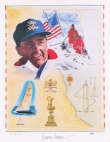 """Dennis Conner Signed LE """"America's Cup"""" 19x25 Lithograph (PSA COA) at PristineAuction.com"""