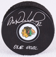 """Michal Rozsival Signed Blackhawks Logo Hockey Puck """"Our Goal"""" (Schwartz COA) at PristineAuction.com"""