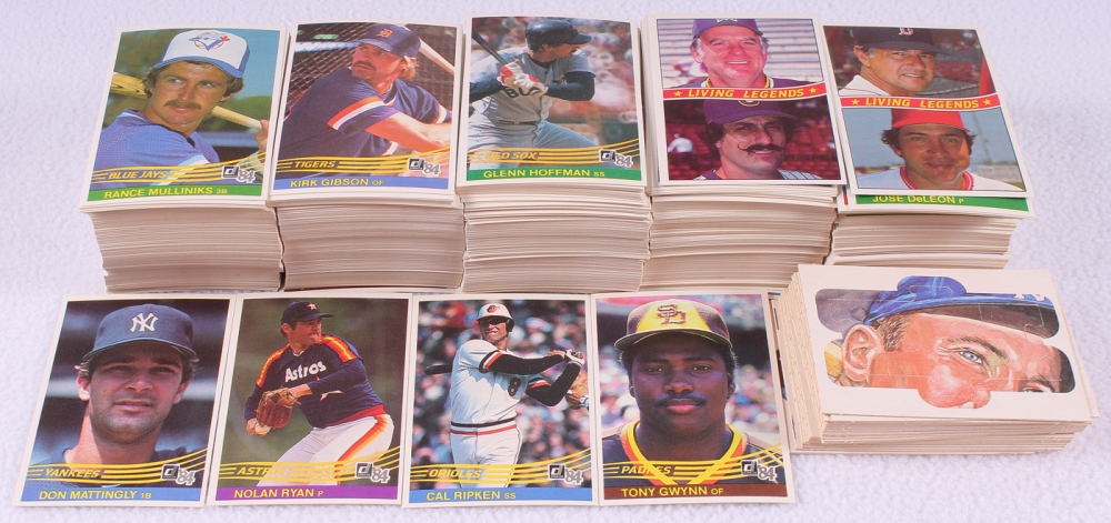 1984 Donruss Baseball Complete Set Of 660 Cards With 248 Don Mattingly RC