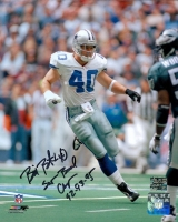 "Bill Bates Signed Cowboys 8x10 Photo Inscribed ""Super Bowl Champs 92-93-95"" (Bates Hologram)"
