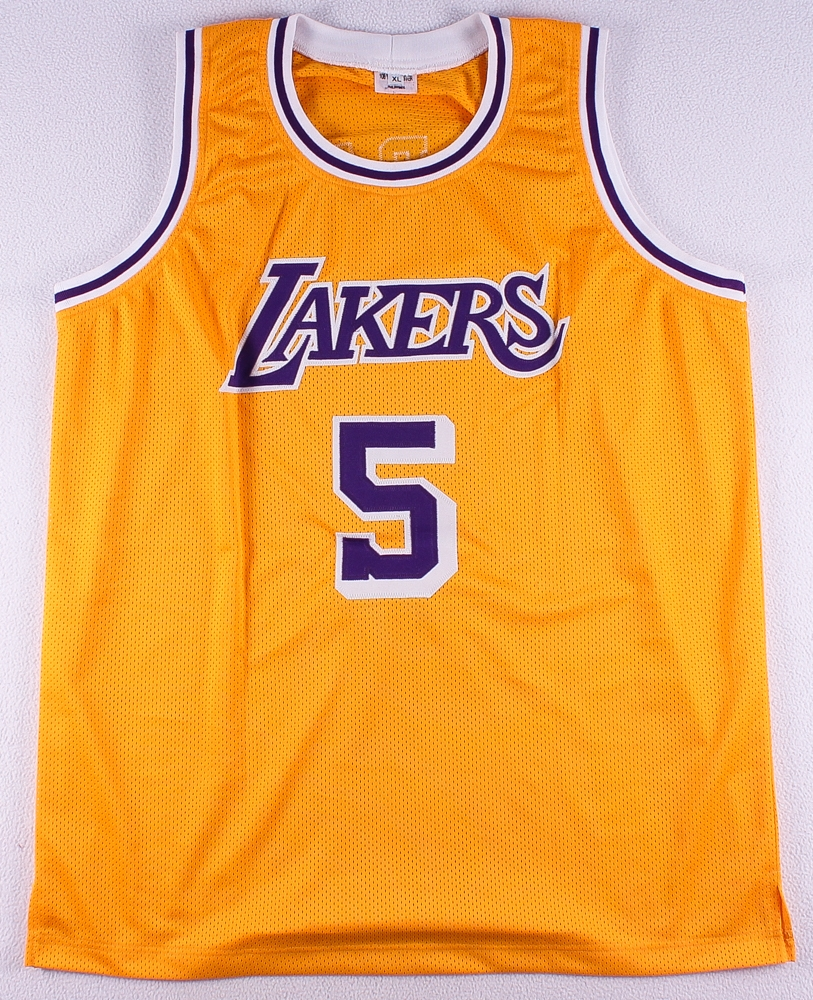 5520b48a7e1 Robert Horry Signed Lakers Jersey (Leaf COA) at PristineAuction.com