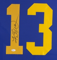Kurt Warner Signed Rams 35x43 Custom Framed Jersey (JSA COA) at PristineAuction.com