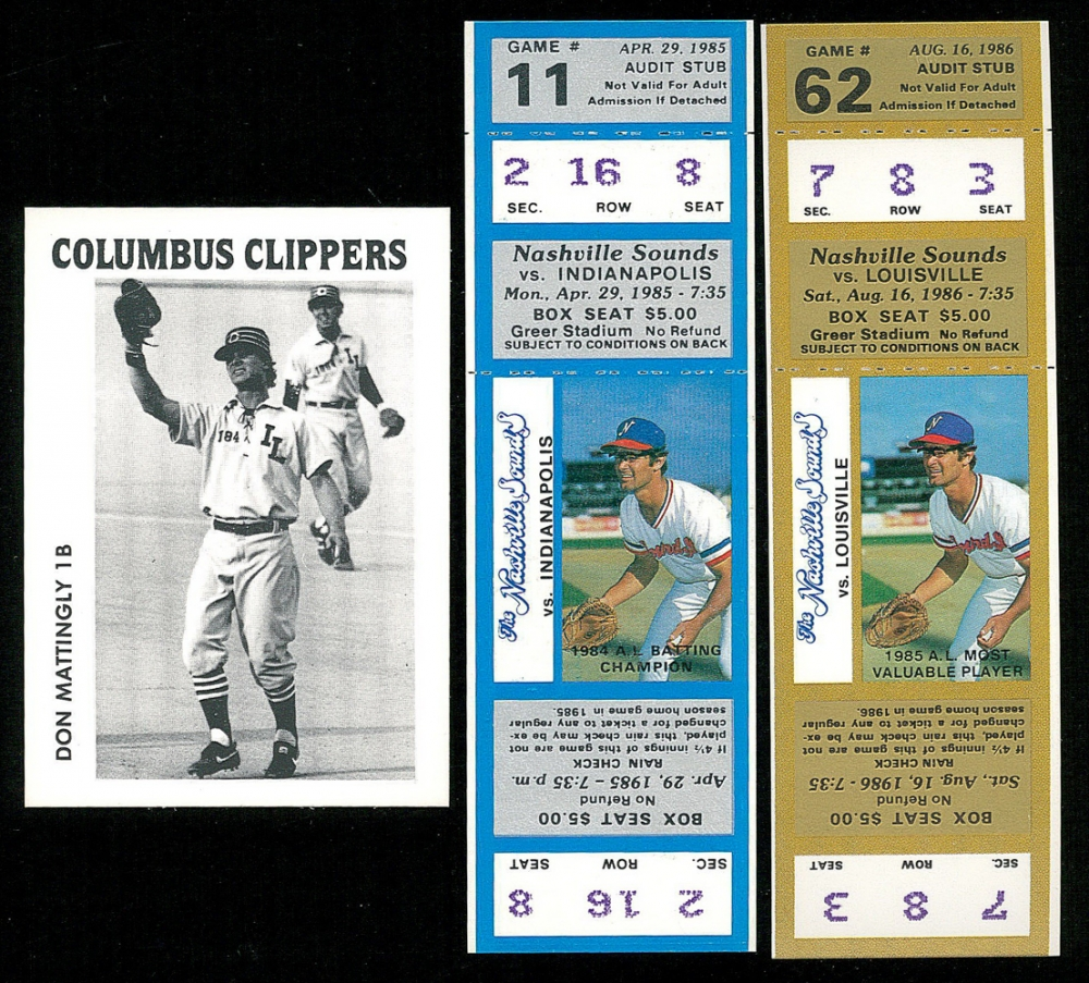 Lot of 2 unused nashville sounds tickets and 1984 columbus clippers