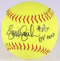 "Jennie Finch Signed Softball Inscribed ""04 Gold"" (Schwartz COA) at PristineAuction.com"