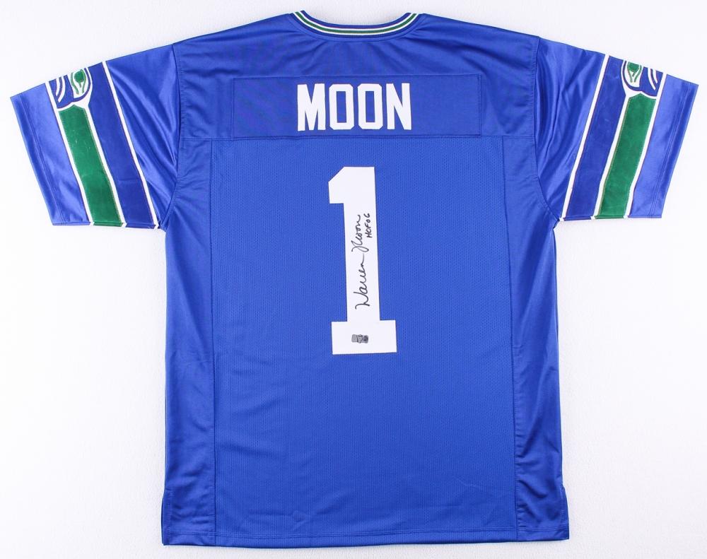 724e9d6f9 Warren Moon Signed Seahawks Jersey Inscribed
