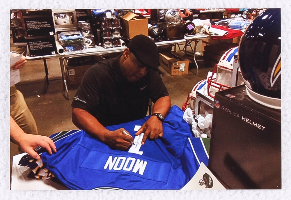 ... in Warren Moon Warren Moon Signed Seahawks Jersey Inscribed ... b96fa00b3