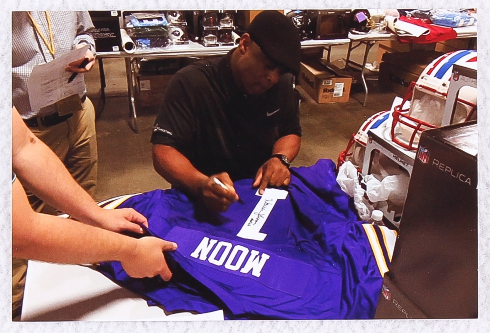 Warren Moon Signed Vikings Jersey Inscribed