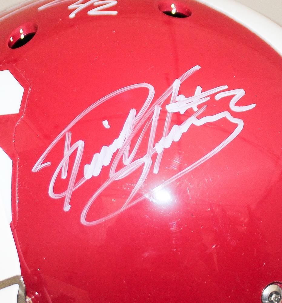 2e53e6f56 ... Derrick Henry Mark Ingram Signed Alabama Full-Size Helmet (Radtke .