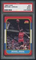 Michael Jordan 1986-87 Fleer #57 RC (PSA 9) (OC)