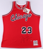 Michael Jordan Signed Mitchell & Ness Authentic 1984-85 Rookie Bulls Jersey (UDA COA)