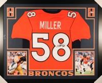 """Von Miller Signed Broncos 35"""" x 43"""" Custom Framed Jersey (JSA COA)"""