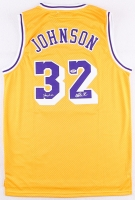 "Magic Johnson Signed Lakers Jersey Inscribed ""Showtime"" (PSA COA)"