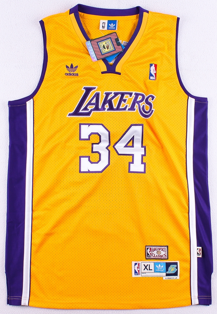 6589ad610bf ... ONeal Signed Lakers Authentic On-Court Career Highlight Stat Jersey  Limited Edition Vintage Shaquille Oneal LA Lakers Champion Jersey  Autographed Los ...