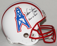 "Warren Moon Signed Oilers Full-Size Authentic Pro-Line Helmet Inscribed ""HOF 06"" & ""Run-N-Shoot"" (Steiner COA)"