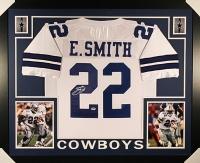 Emmitt Smith Signed Cowboys 35x43 Custom Framed Jersey (PSA COA)