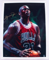 Michael Jordan Signed Bulls 33x43 Lithograph on Canvas Limited Edition #23/23 (JSA LOA & UDA Hologram)