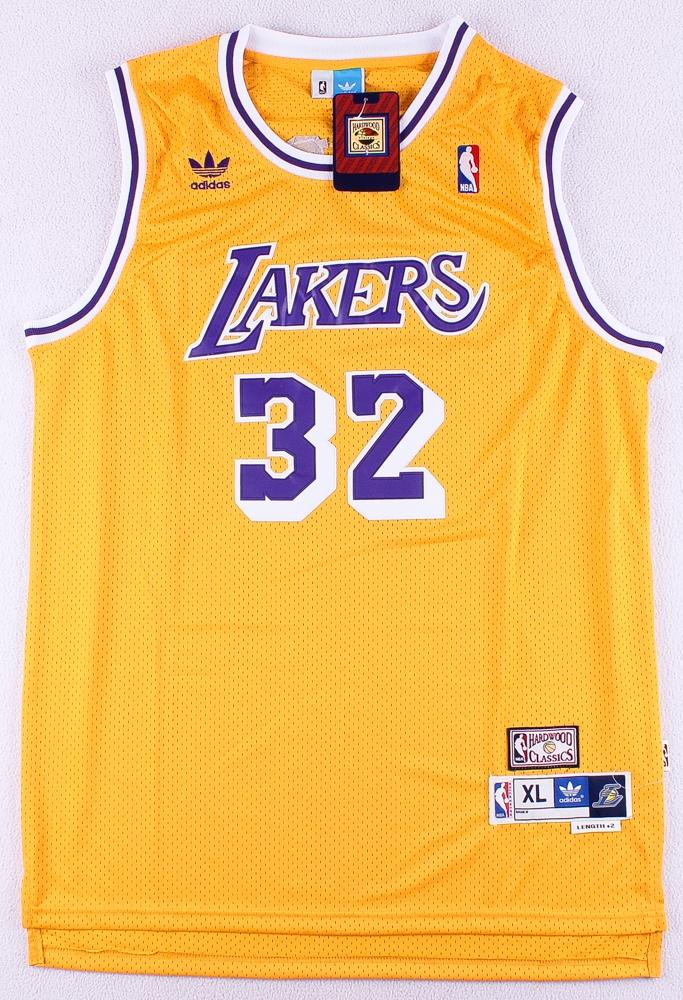 35ed8cc9327 Magic Johnson Lakers Adidas Hardwood Classics On-Court Style Stitched Jersey  (Size XL)