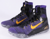 """Pair of (2) Kobe Bryant Signed Game-Used Nike Shoes Inscribed """"1-7-15 vs. Clippers"""" Limited Edition #1/1 (Panini COA)"""