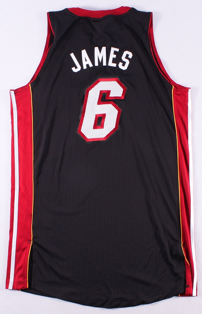 4dfc1ea0d9a LeBron James Signed LE Heat Adidas On-Court Jersey with 2013