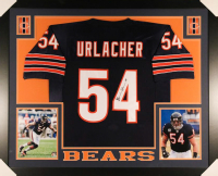 Brian Urlacher Signed Chicago Bears 35x43 Custom Framed Jersey (JSA COA)