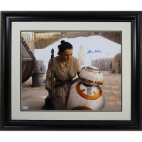"Daisy Ridley Signed Star Wars ""Rey With BB-8"" 16x20 Photo (PSA & Steiner COA)"