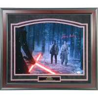 "Daisy Ridley Signed ""Rey In Forest With Kylo Ren & Finn"" 16x20 Photo (PSA & Steiner COA)"