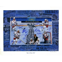 1994 Rangers 26x34 LE Lithograph Team-Signed by (17) with Mark Messier, Brian Leetch, Mike Richter, Joe Kocur (Steiner COA)