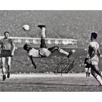 Pele Signed 1965 Bicycle Kick 16x20 Photo (Steiner COA)