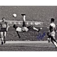 "Pele Signed Brazil ""1965 Bicycle Kick"" 16x20 Photo (Steiner COA)"