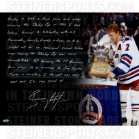 Brian Leetch Signed Rangers 16x20 Photo with Handwritten Story Inscription (Steiner COA)