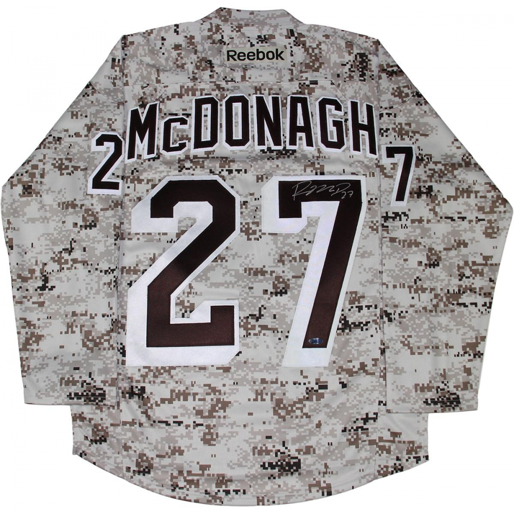 Ryan McDonagh Signed Rangers Camo Jersey (Steiner COA) at  PristineAuction.com 86e35fa96