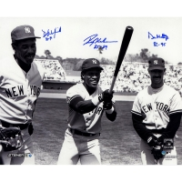 Don Mattingly, Rickey Henderson & Dave Winfield Signed Yankees 16x20 Photo with (3) Inscriptions (Steiner COA)