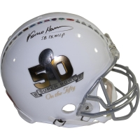 "Franco Harris Signed Super Bowl ""On the Fifty"" Full-Size Authentic Pro-Line Helmet Inscribed ""SB IX MVP"" (Steiner COA)"
