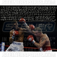 Mickey Ward Signed 16x20 Photo with Handwritten Story (Steiner COA)