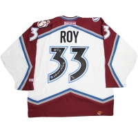 "Patrick Roy Signed LE Colorado Avalanche Jersey Inscribed ""Last Game 04/22/03"" (Steiner COA)"