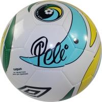 Pele Signed Cosmos Logo Soccer Ball (Steiner COA)