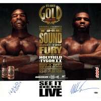 Evander Holyfield & Mike Tyson Signed 21x22 Fight Rematch Poster (Steiner COA)